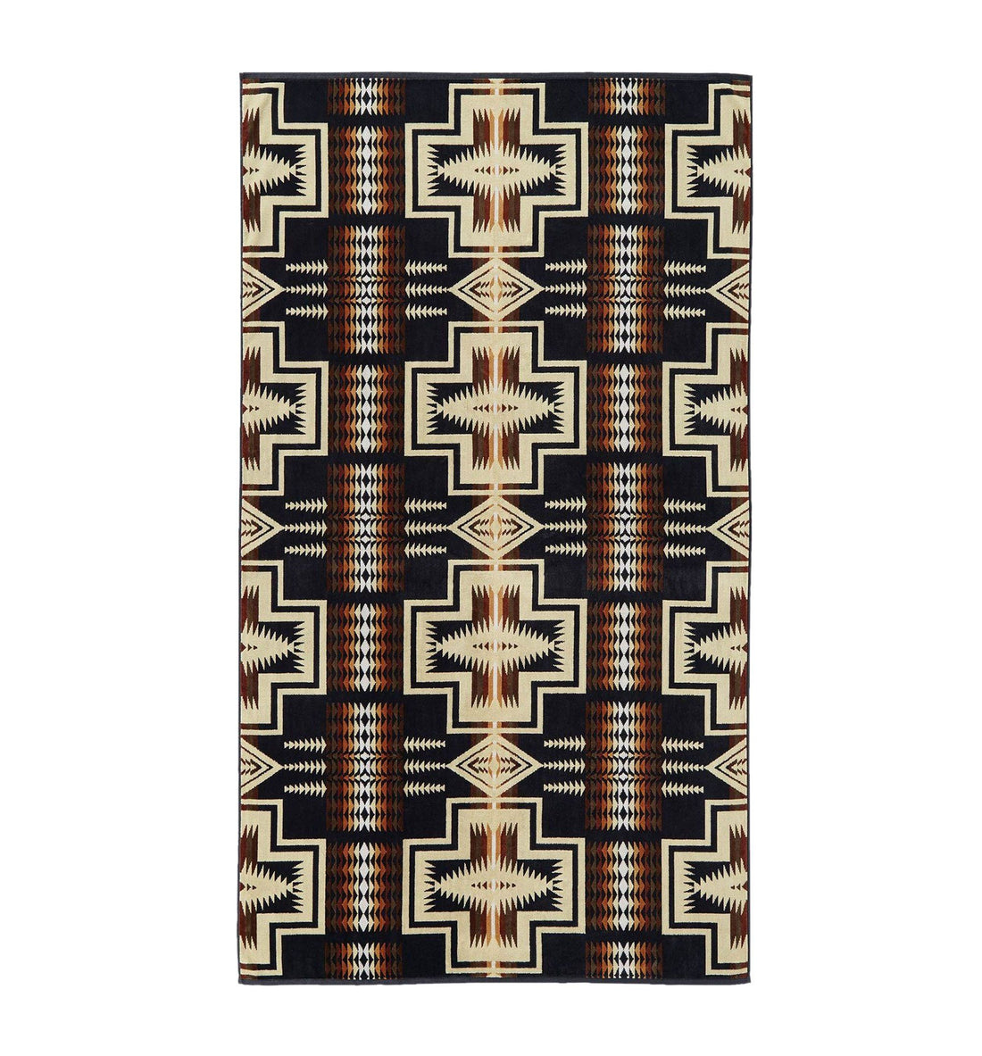 Pendleton Woolen Mills Oversized Jacquard Towel - Harding - Outdoor Living/Travel - Iron and Resin