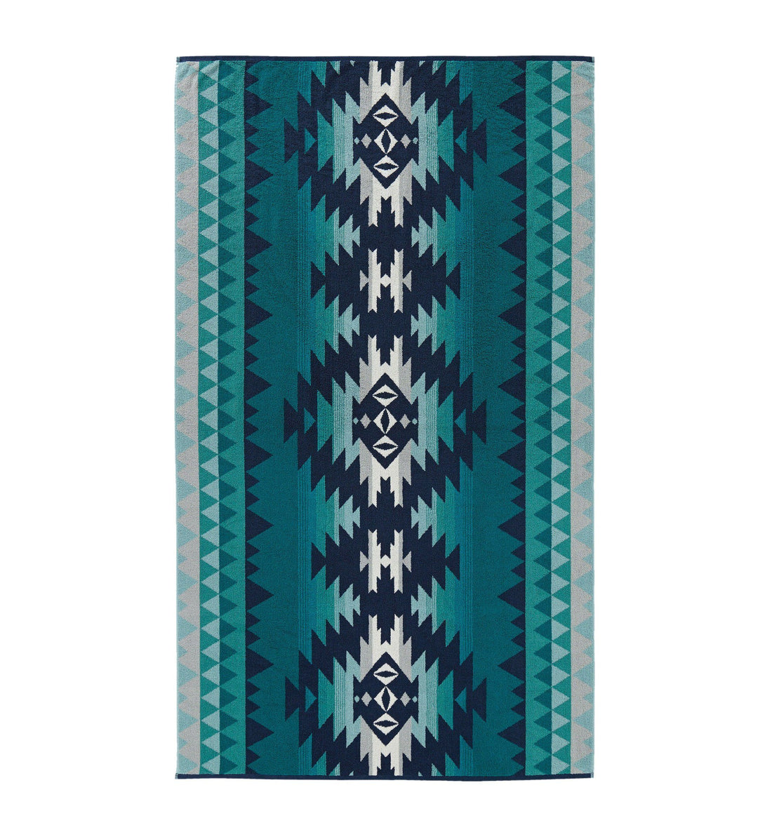 Pendleton Woolen Mills Oversized Jacquard Towel - Papago Park Turquoise - Outdoor Living/Travel - Iron and Resin