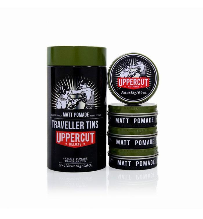 Uppercut Deluxe Traveller Tins - Matte Pomade - Grooming - Iron and Resin