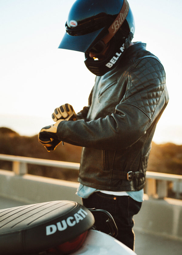 Iron & Resin Truckston Moto Jacket in Black Leather