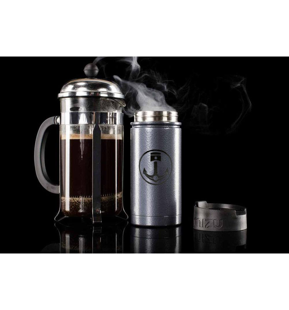INR x Mizu V5 w/coffee lid, Hammer Grey - Houseware: Thermos - Iron and Resin