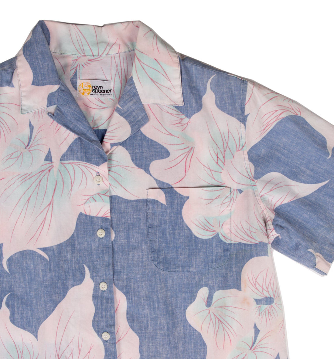 Vintage 80's Hawaiian Light Blue Button up - Vintage - Iron and Resin
