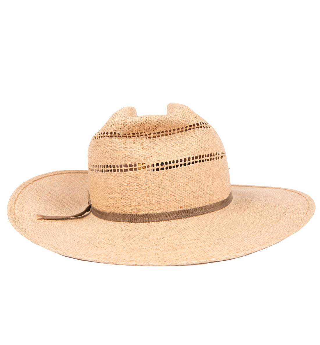 Vintage Straw Hat - Vintage - Iron and Resin