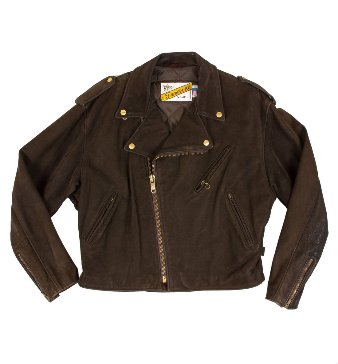 Vintage Brown Schott Perfecto - Vintage: Men's: Leather Jackets - Iron and Resin
