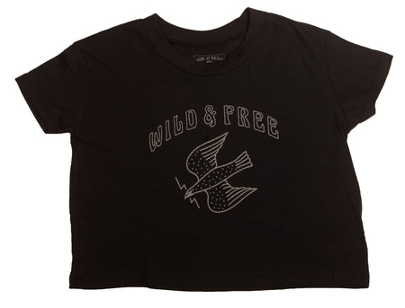Wild & Free Women's Cropped Tee - Tops - Iron and Resin