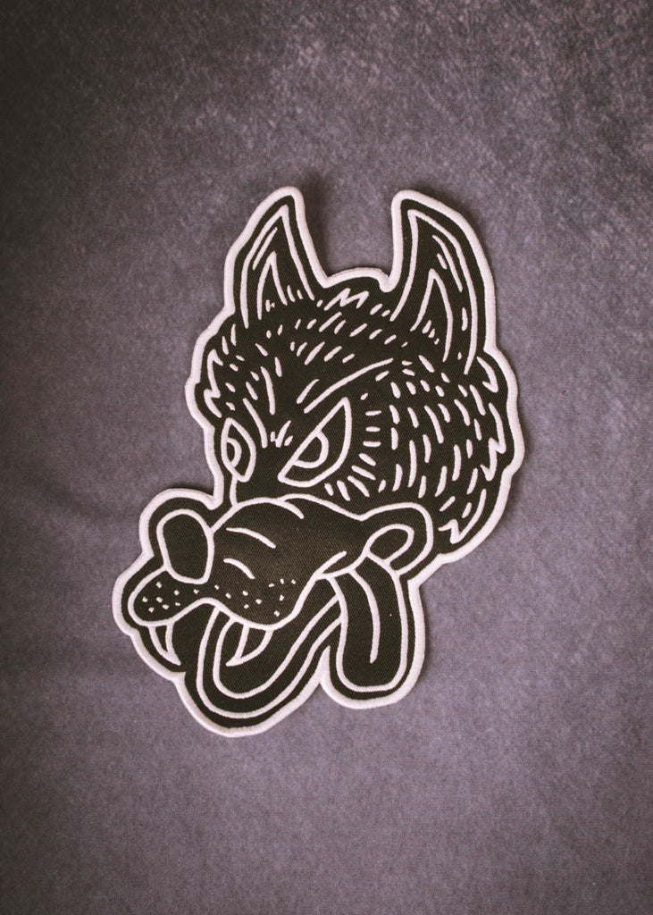 Iron & Resin Wolf Back Patch