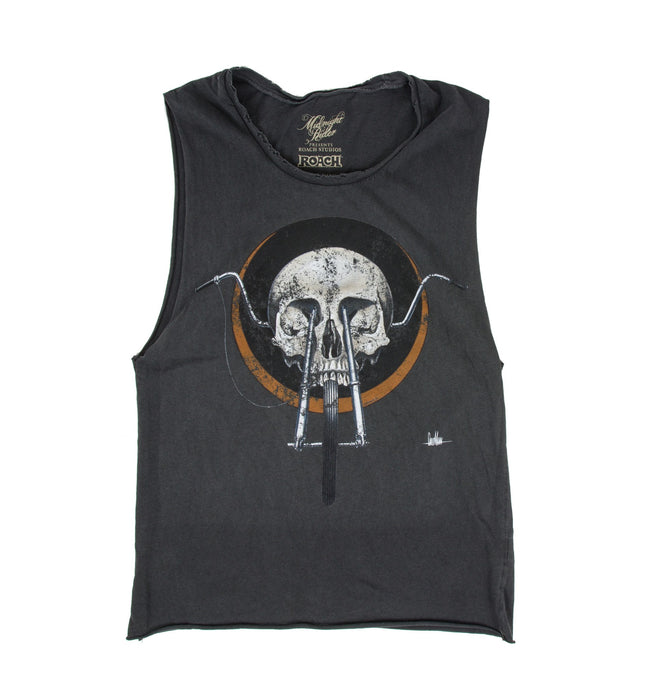 Midnight Rider Wmn's Chopper Skull Muscle Tank - Apparel: Women's - Iron and Resin