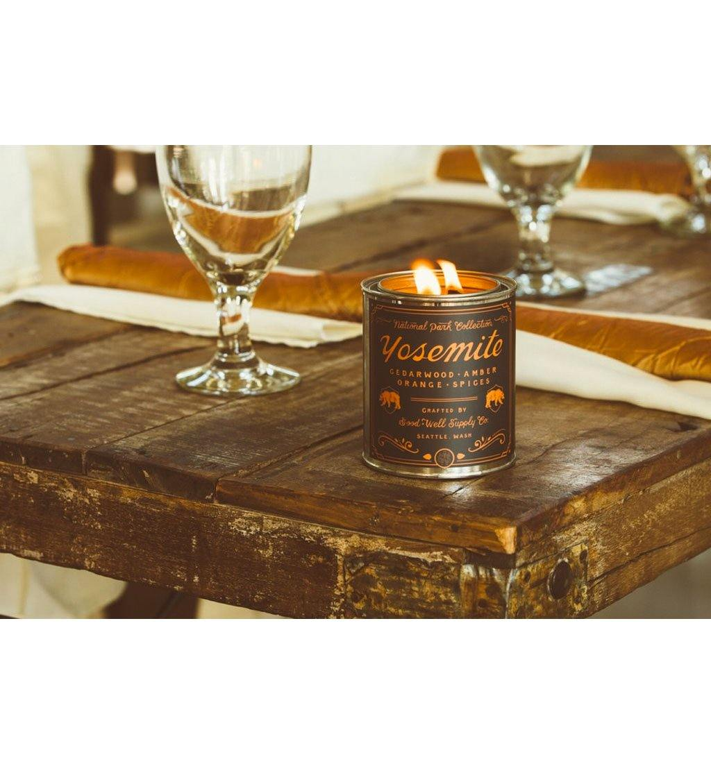 Good & Well Supply Company National Park Candle - Yosemite - 1/2 Pint - Home Essentials - Iron and Resin