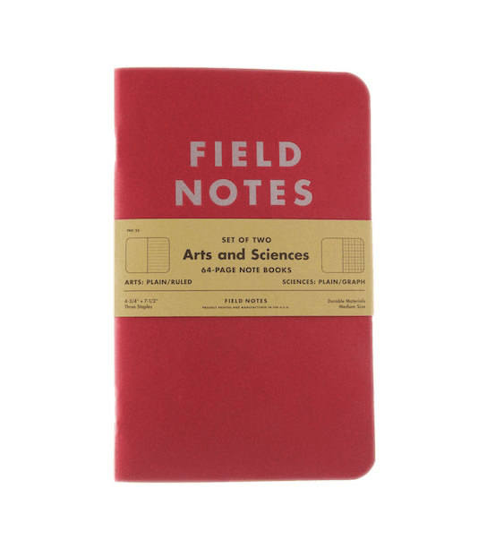 Field Notes Limited Edition #23 - Arts & Sciences - Accessories: Journals - Iron and Resin