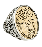 LHN Mermaid Signet Ring - Jewelry - Iron and Resin