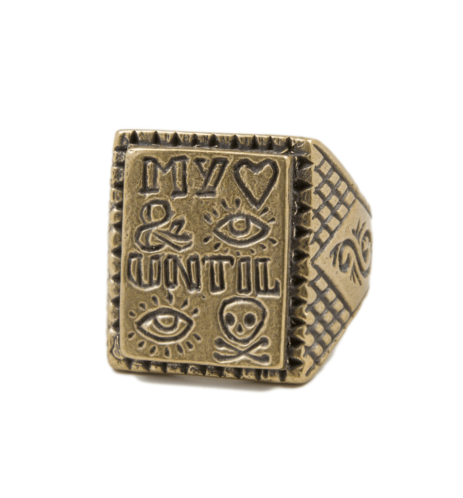 LHN My Heart & I Before I Die Ring - Jewelry: Men's - Iron and Resin