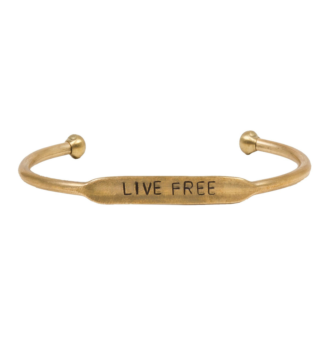 Live Free Bracelet - Jewelry: Women's: Bracelets - Iron and Resin