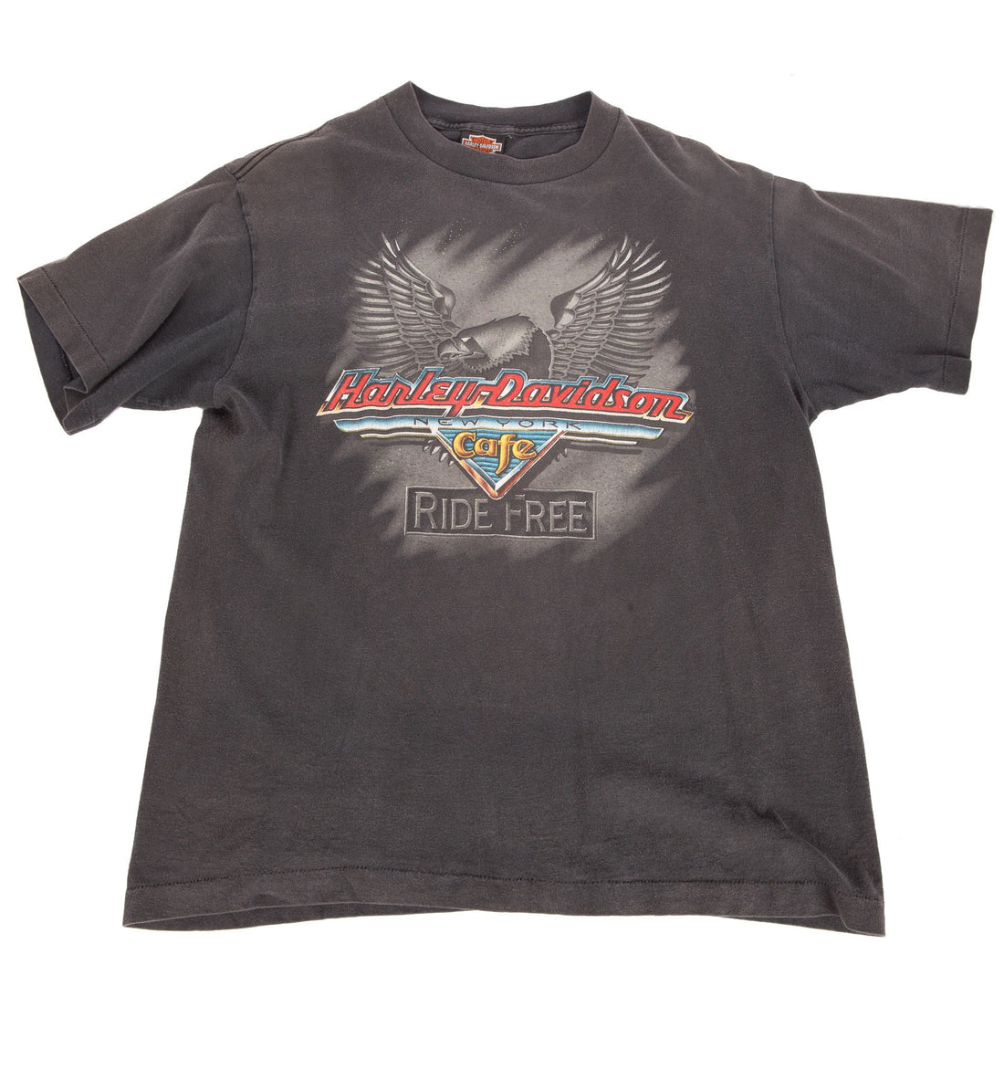 Vintage Black Harley Davidson Tee - Vintage - Iron and Resin