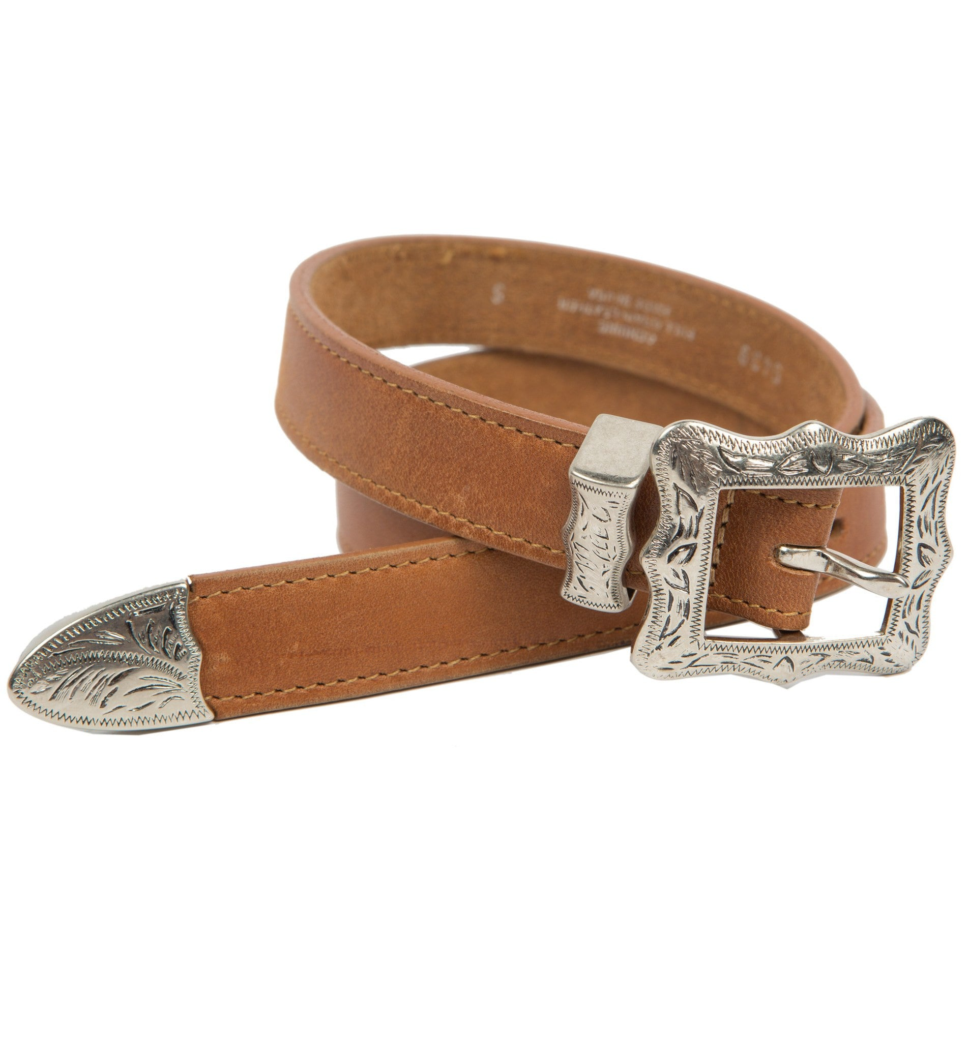 Vintage Brown Thin Toby Leather Belt, Size 34 - Vintage: Women's: Apparel - Iron and Resin