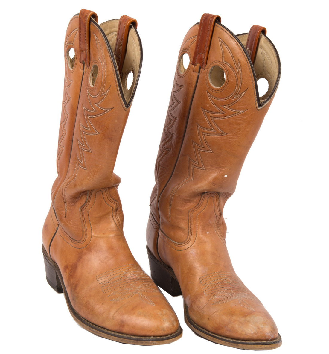 Vintage Brown Leather Cowboy Boots, 9 - Vintage - Iron and Resin