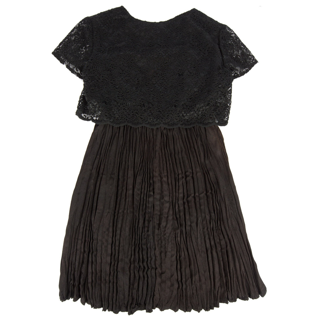 Vintage 80's Black Lace top short sleeve Dress - Vintage - Iron and Resin