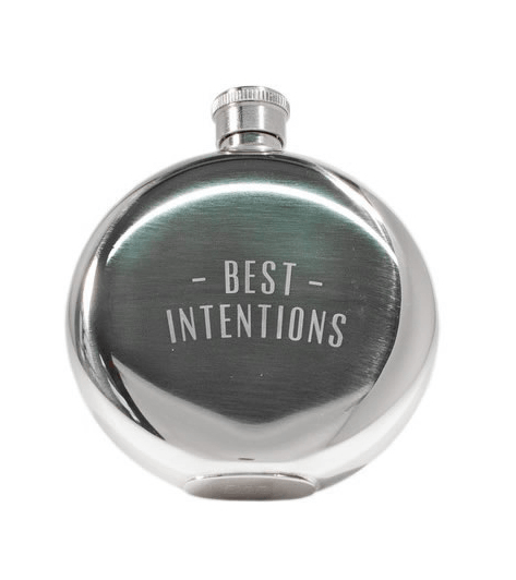 Izola Best Intentions Flask, 5oz - Kitchenware - Iron and Resin