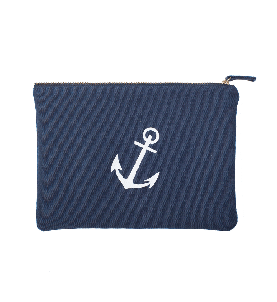 Izola Anchor Zip Pouch - Grooming: Dopp Kit - Iron and Resin