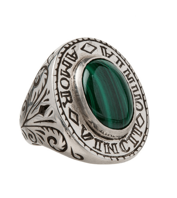 LHN Amor Signet Ring - Jewelry: Men's - Iron and Resin