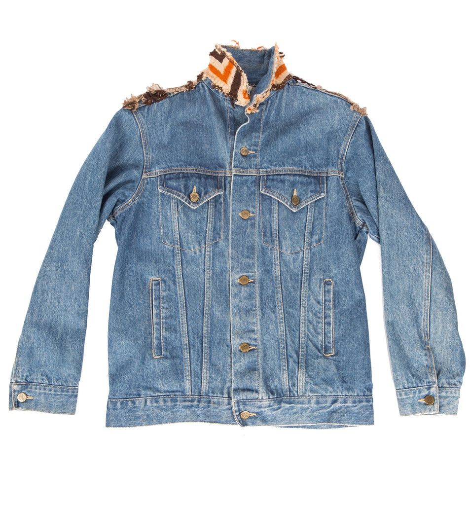 Vintage Denim Applicated Prairie Plains Jacket