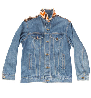 Vintage Denim Applicated Prairie Plains Jacket - Vintage - Iron and Resin