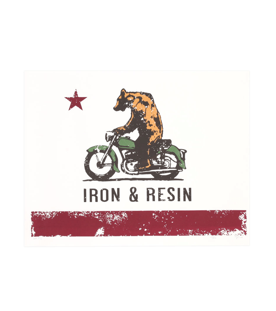 MOTO BEAR POSTER - Accessories: Posters - Iron and Resin