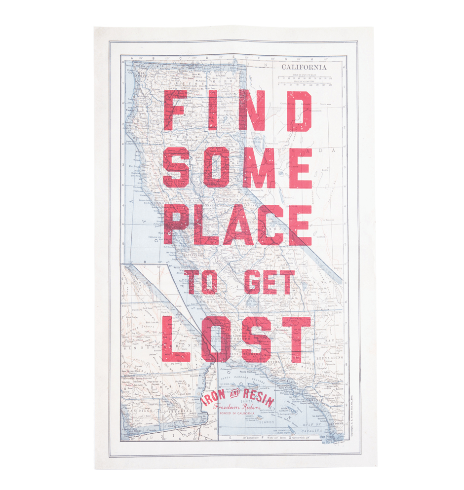 INR Get Lost Poster - Accessories: Posters - Iron and Resin