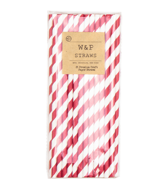W&P Red Paper Straws