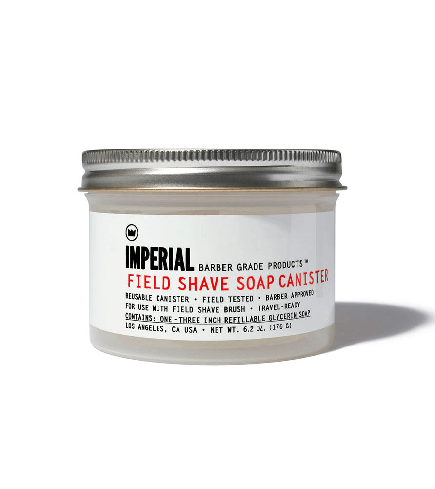 Imperial Field Shave Soap Canister - Grooming: Skin - Iron and Resin