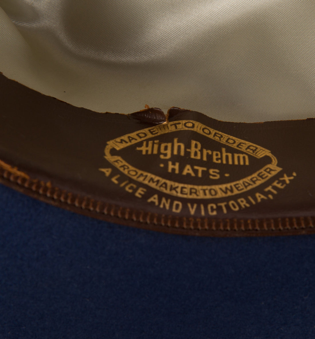 Vintage High-Brehm Hat Navy, 7 - Vintage - Iron and Resin
