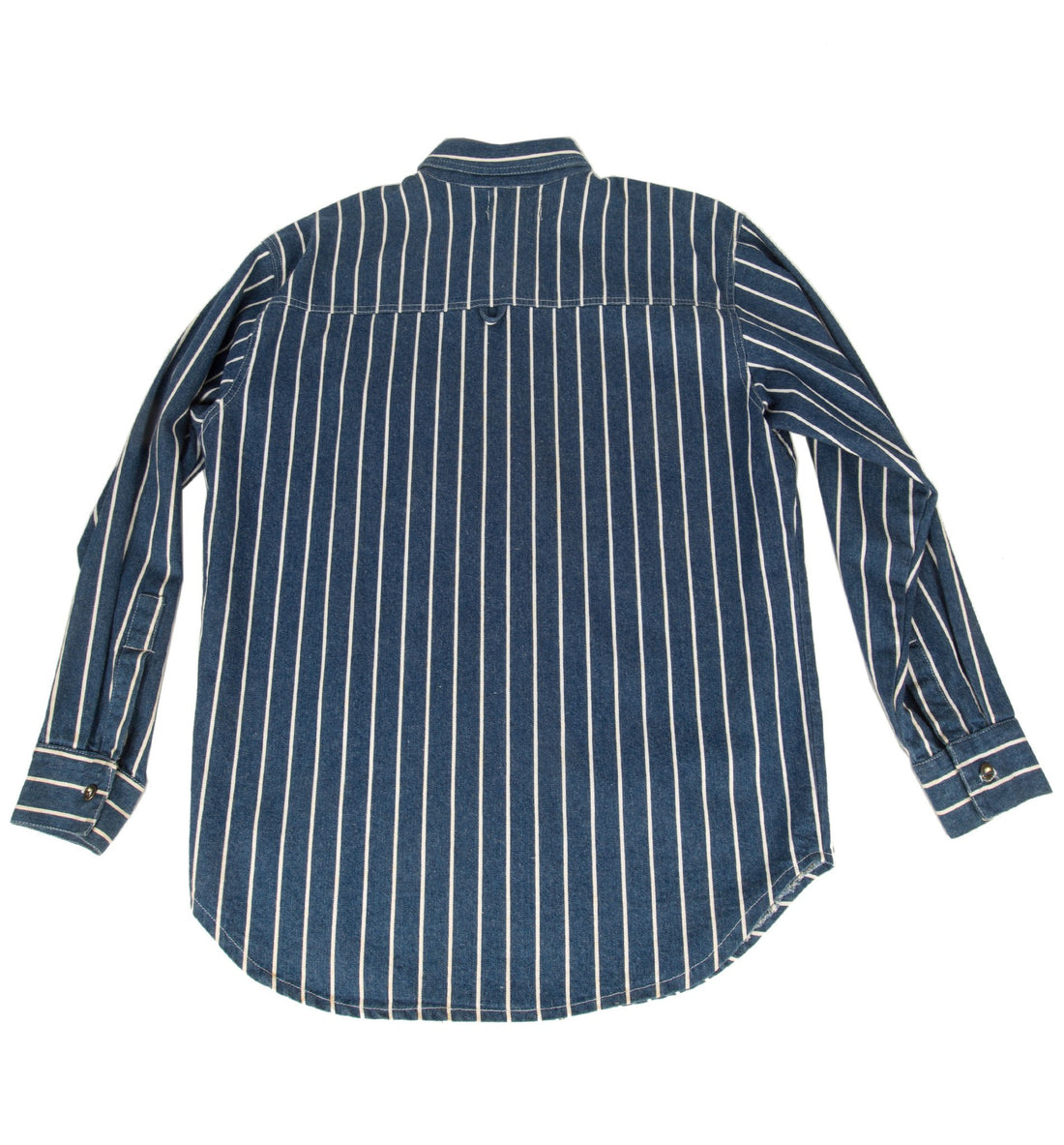 Vintage 60's Levis Blue/White Stripe Button Up Shirt - Vintage - Iron and Resin