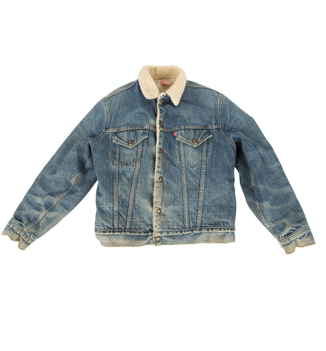 Vintage 70's Sherpa Lined Levis Trucker Jacket, size 42 - Vintage - Iron and Resin