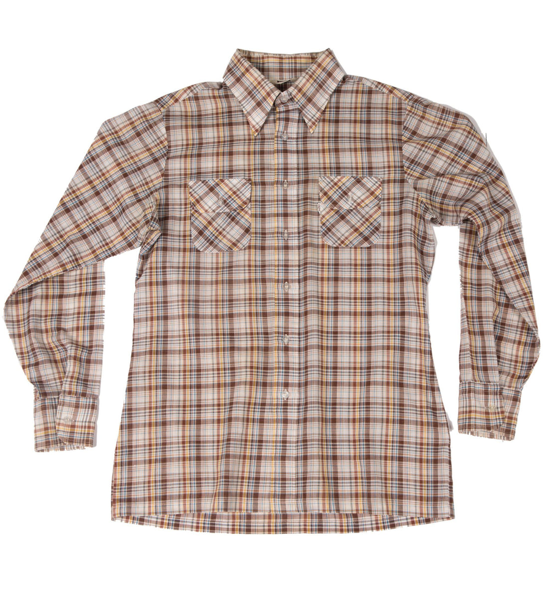 Vintage Levis Brown Plaid Button up Shirt - Vintage - Iron and Resin
