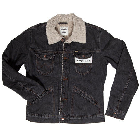 Men's Wrangler Icons™ Sherpa Lined Jacket - Outerwear - Iron and Resin
