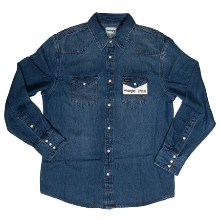 Men's Wrangler Icons™ Western Shirt - Tops - Iron and Resin