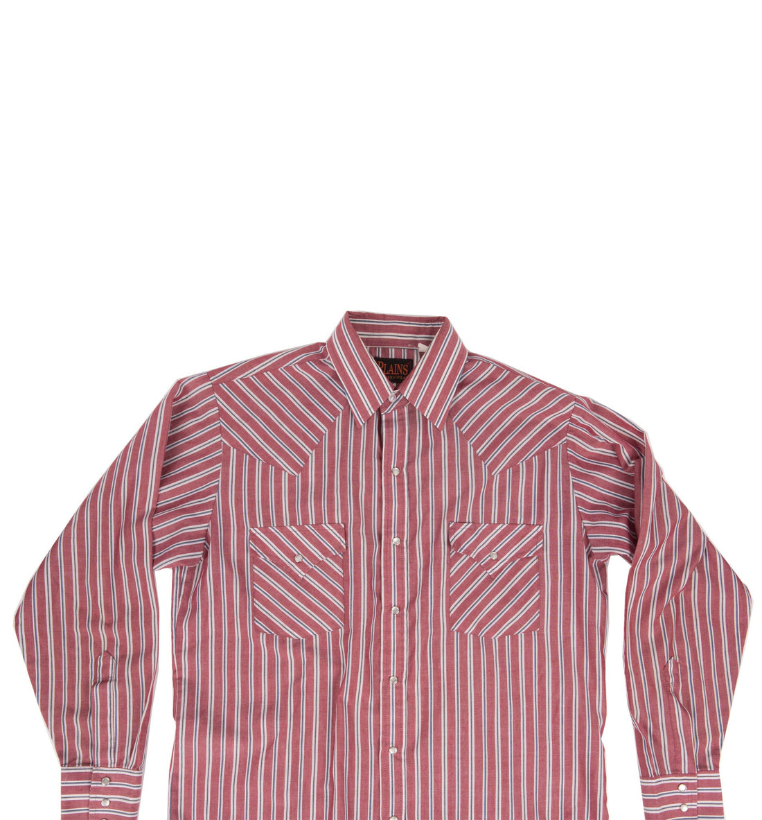 Vintage 70's Men's Plains Red Stripe Button Up Shirt - Vintage - Iron and Resin