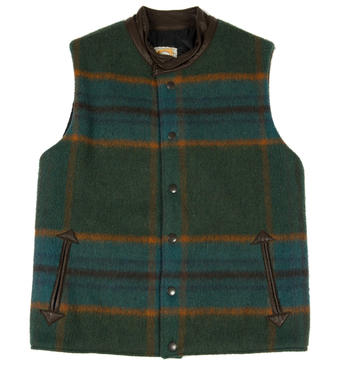 Vintage Shires Original Wool Plaid lined Vest - Vintage - Iron and Resin
