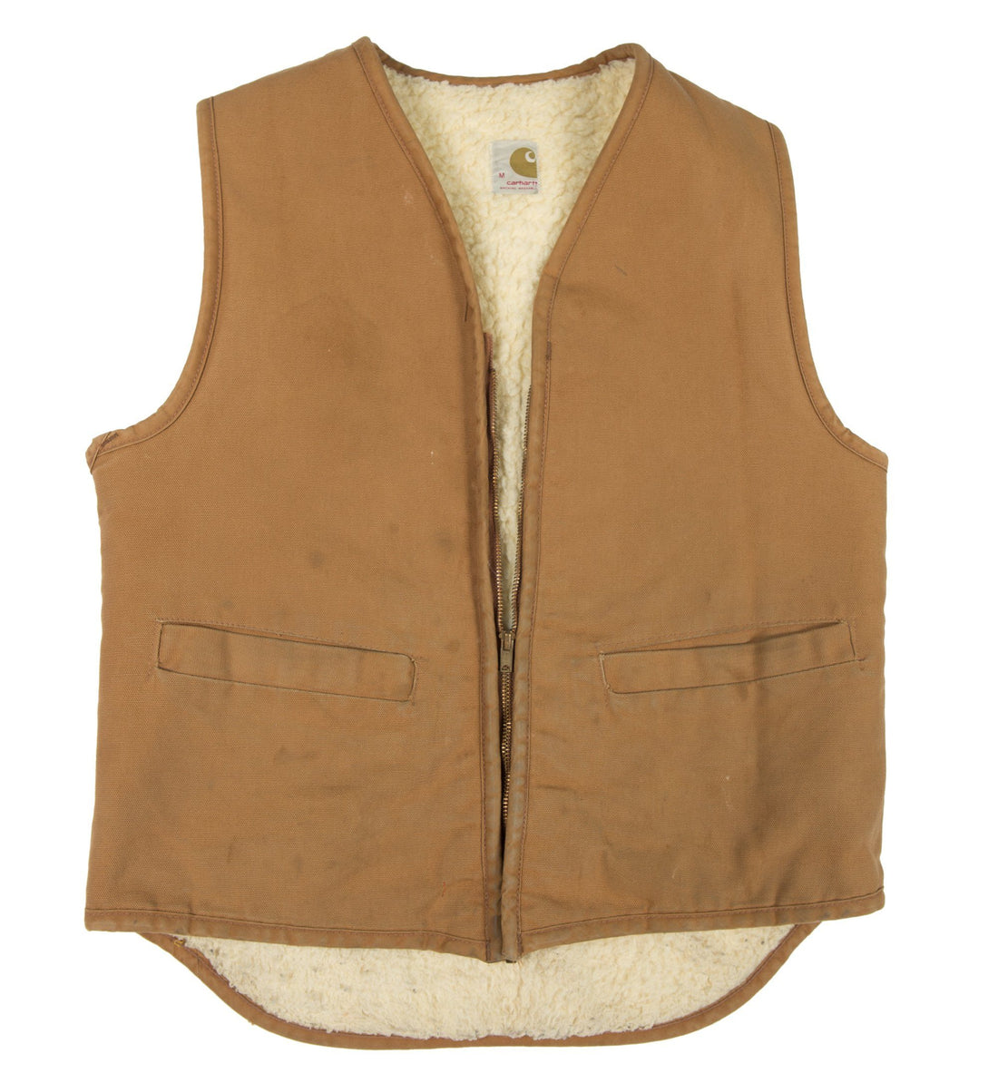 Vintage Tan Carhartt Vest with sherling lining - Vintage - Iron and Resin
