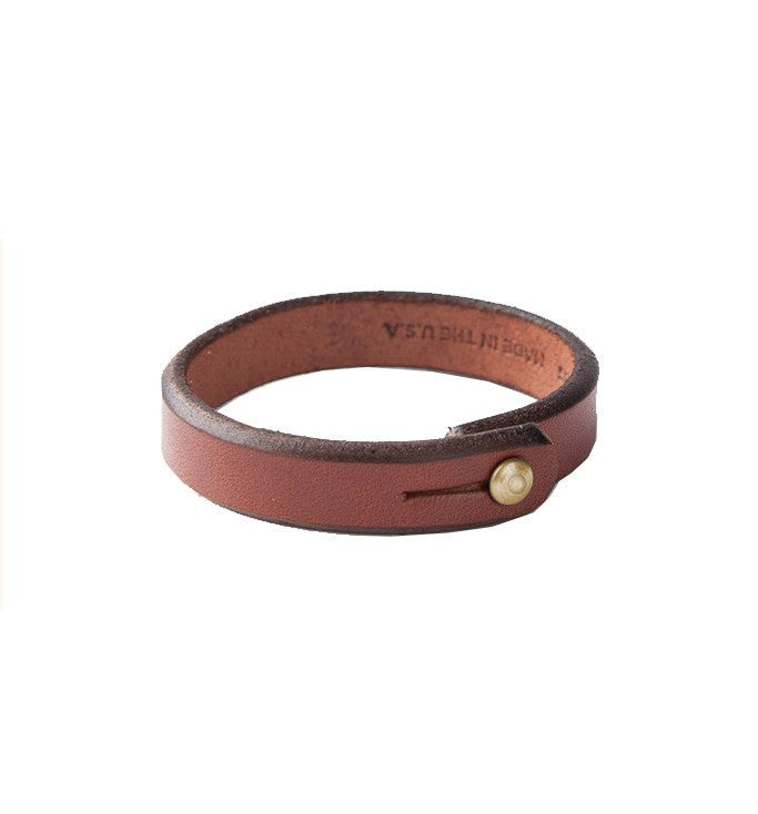 Tanner Goods - Single Wrap Wristband - Jewelry: Men's: Leather - Iron and Resin