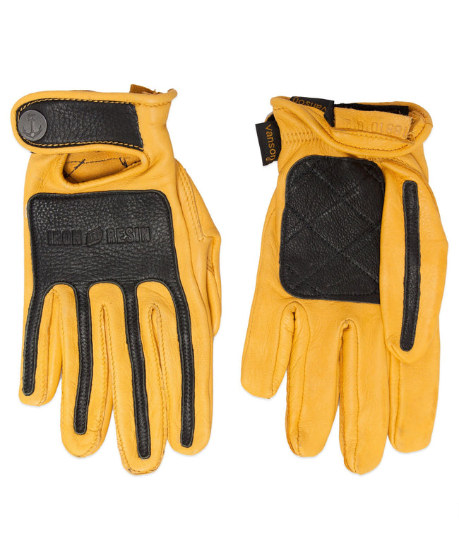 VANSON X IRON & RESIN GLOVES - Moto: Gloves - Iron and Resin