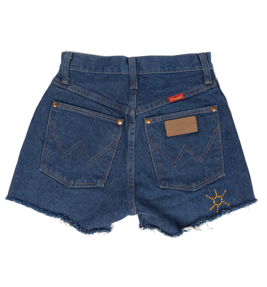 Vintage Dark Wash Wrangler Cutoffs w/ Custom Embroidery, 26 - Vintage: Women's - Iron and Resin
