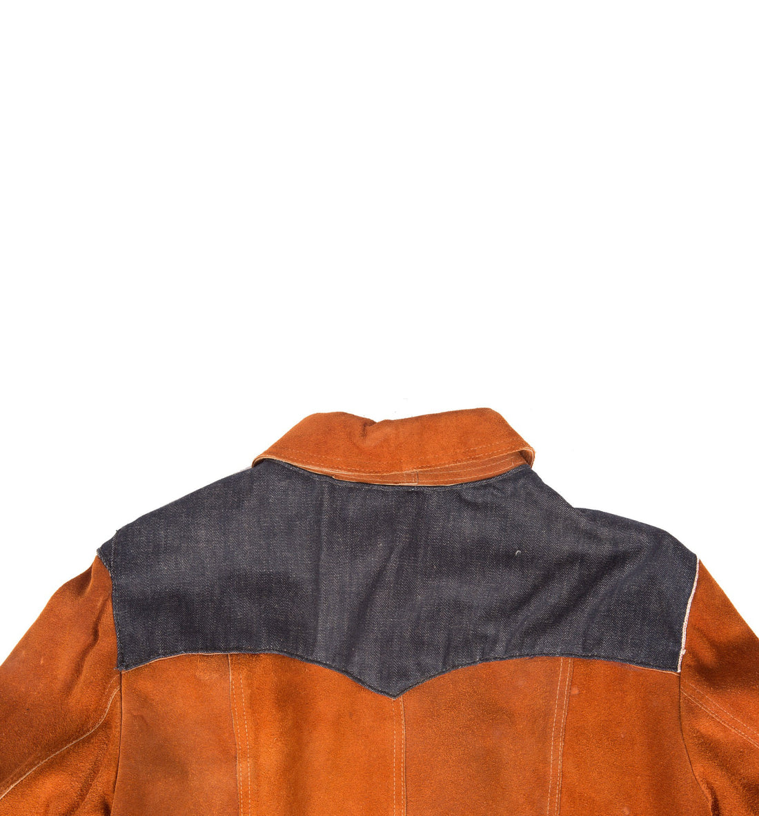 Vintage Zig Zag Refurbished Suede Jacket