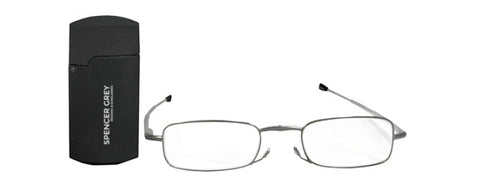 Folding Reading Glasses with Metal Case Unisex