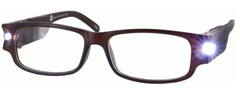 Lighted Reading Glasses Full Frame Unisex - Model B