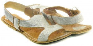 Cara Silver Metallic Sandals by Guru New York