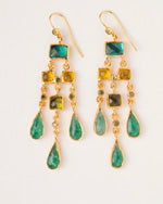 Emerald and Topaz Ayesha Earrings