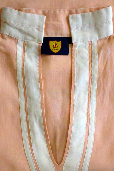 Georgia Peach Linen Tunic Top MEDIUM