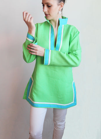 Apple Green Antigua Linen Tunic