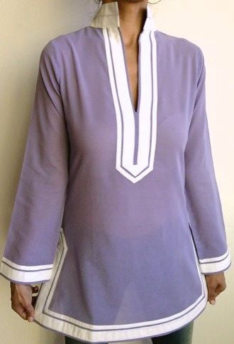 Violet Cotton Tunic Top XS