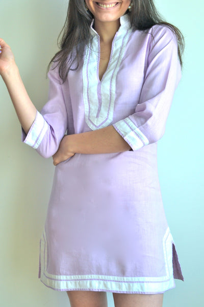 Mauve Linen Tunic Dress XS